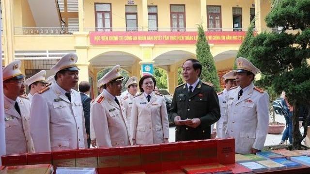 Tình cảm của Chủ tịch nước Trần Đại Quang với Học viện Chính trị CAND