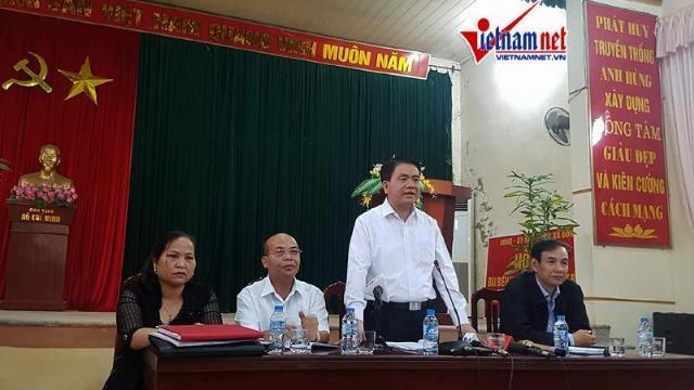 Ông Chung dẫn đầu đoàn công tác về đối thoại với người dân Đồng Tâm