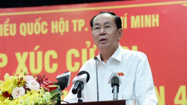 Chủ tịch nước Trần Đại Quang trao đổi với cử tri về Luật an ninh mạng
