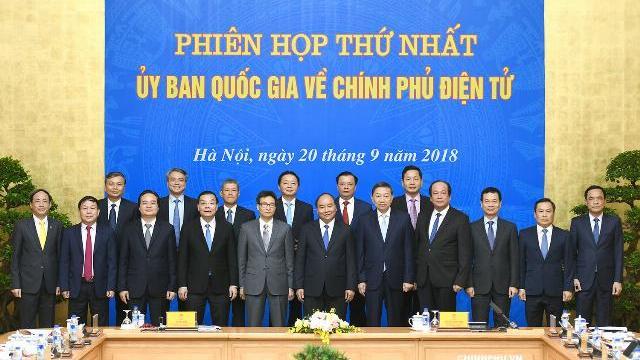 Ủy ban Quốc gia về Chính phủ điện tử họp phiên đầu tiên.