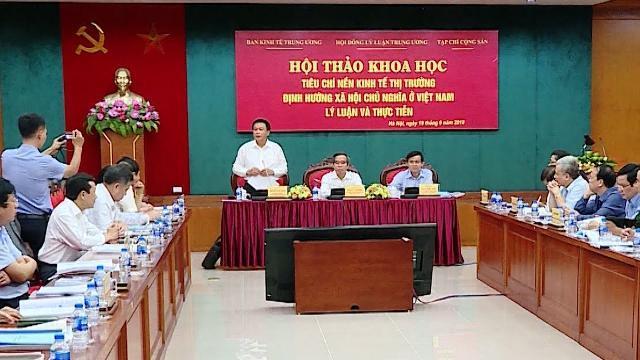 Xây dựng Bộ tiêu chí nền kinh tế thị trường định hướng XHCN