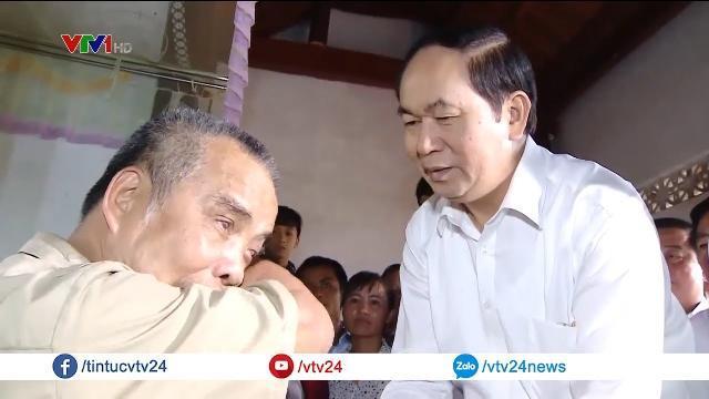 Tình cảm nồng ấm của Chủ tịch nước Trần Đại Quang với nhân dân