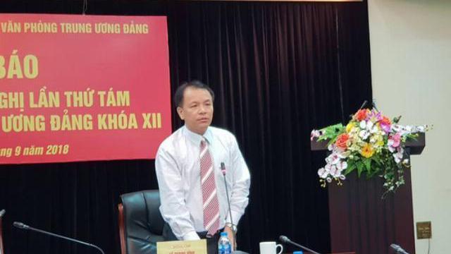 Hội nghị Trung ương 8 sẽ cho ý kiến về ông Nguyễn Bắc Son