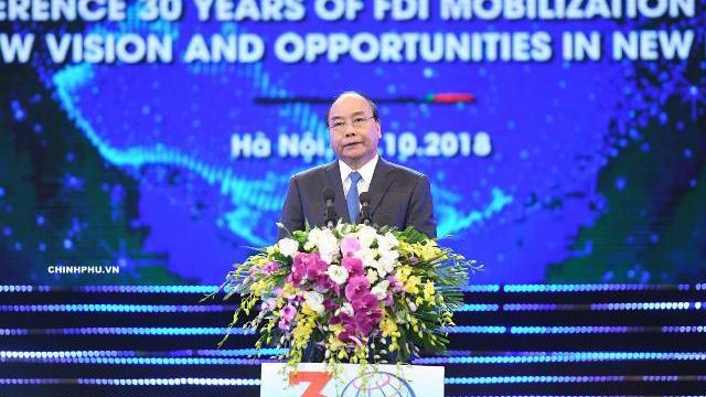 Thủ tướng chủ trì Hội nghị tổng kết 30 năm FDI tại Việt Nam
