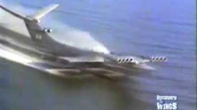 Thủy phi cơ kỳ quái nhất của Nga bay trên biển Caspi - Caspian Sea Monster Ekranoplan Flight
