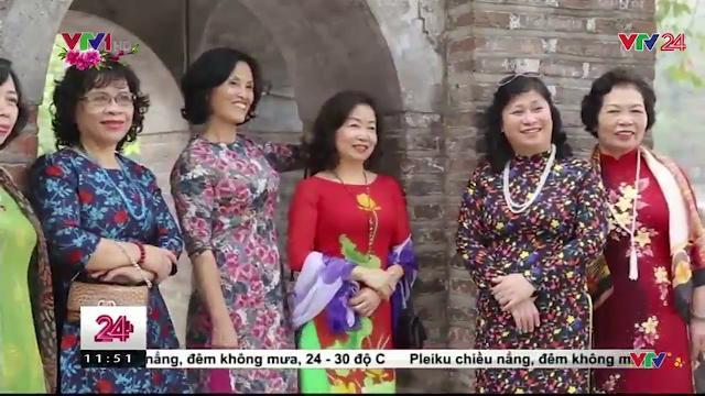 Ấn tượng hương sắc áo dài khắp phố phường ngày Tết