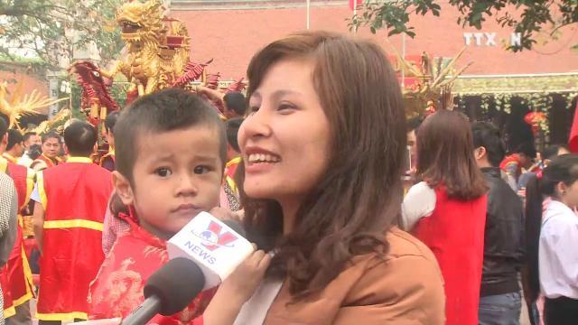 Tưng bừng lễ hội rước pháo làng Đồng Kỵ 2017
