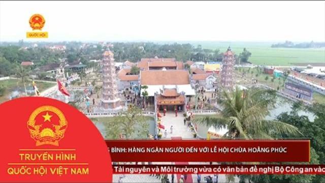 Quảng Bình: Hàng ngàn người đến với lễ hội chùa Hoằng Phúc