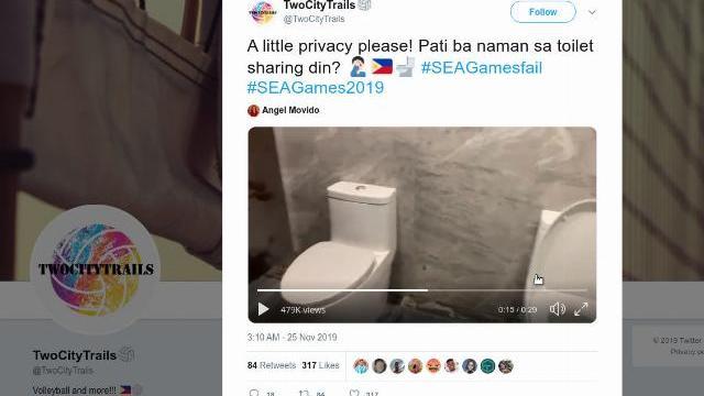 SEA Games 30: Hai vận động viên tại Philippines đi toilet chung buồng ?