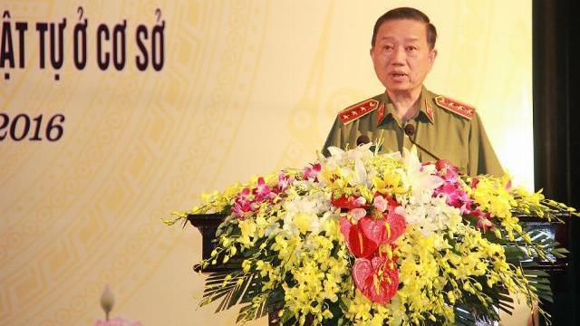 Bộ trưởng Tô Lâm phát biểu tại hội nghị lần thứ tư ban chấp hành TW Đảng khóa XII