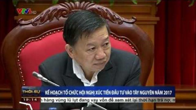 Bộ trưởng Tô Lâm họp bàn kế hoạch tổ chức hội nghị xúc tiến đầu tư vào Tây Nguyên năm 2017