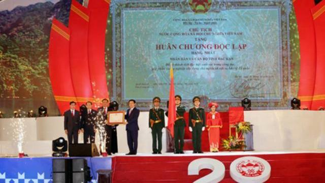 Ông Võ Văn Thưởng phát biểu tại lễ kỷ niệm 20 năm tái lập tỉnh Bắc Kạn