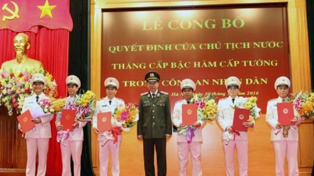 Bộ trưởng Tô Lâm thăng cấp bậc hàm cấp tướng trong Công an nhân dân