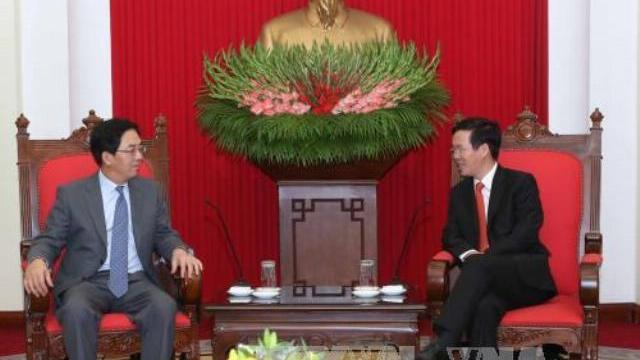 Ông Võ Văn Thưởng tiếp đại sứ Trung Quốc Hồng Tiểu Dũng