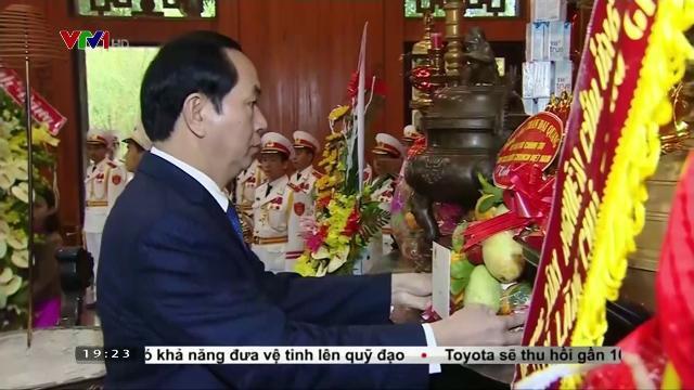 Chủ tịch nước Trần Đại Quang thăm khu di tích lịch sử Kim Liên