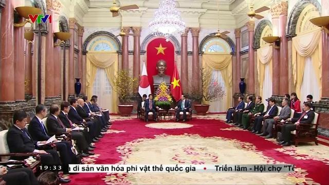 Chủ tịch nước Trần Đại Quang hội kiến Thủ tướng Nhật Bản