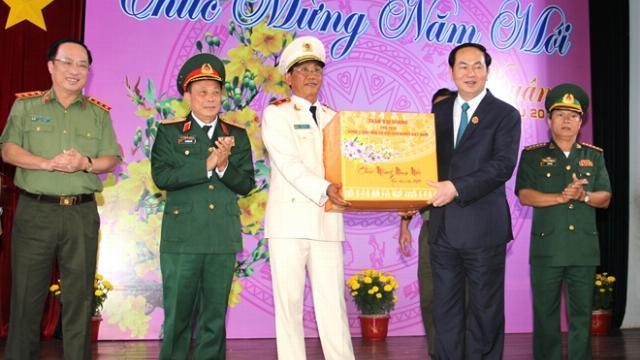 Chủ tịch nước Trần Đại Quang thăm và làm việc tại tỉnh An Giang