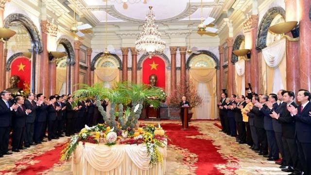 Tổng Bí thư chúc Tết lãnh đạo, nguyên lãnh đạo Đảng, Nhà nước