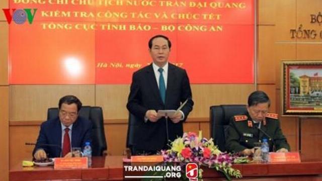 Bộ trưởng Tô Lâm kiểm tra công tác và chúc tết Cục An ninh mạng