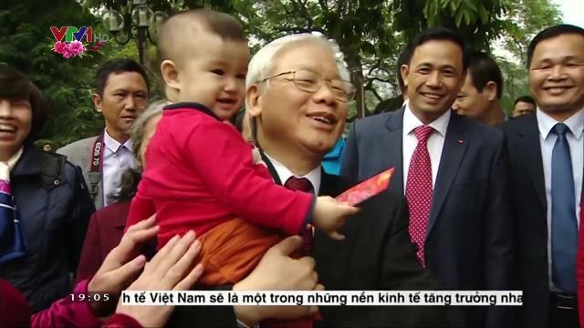 Tổng Bí thư Nguyễn Phú Trọng chúc Tết Đảng bộ và nhân dân TP.Hà Nội