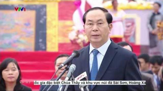 Chủ tịch nước Trần Đại Quang dự lễ hội Tịch Điền 2017