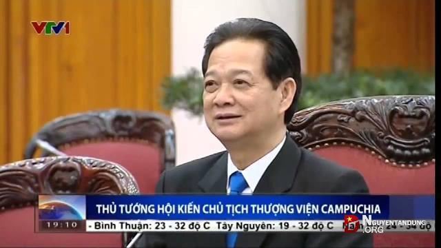 Thủ tướng Nguyễn Tấn Dũng hội kiến Chủ tịch thượng viện Campuchia