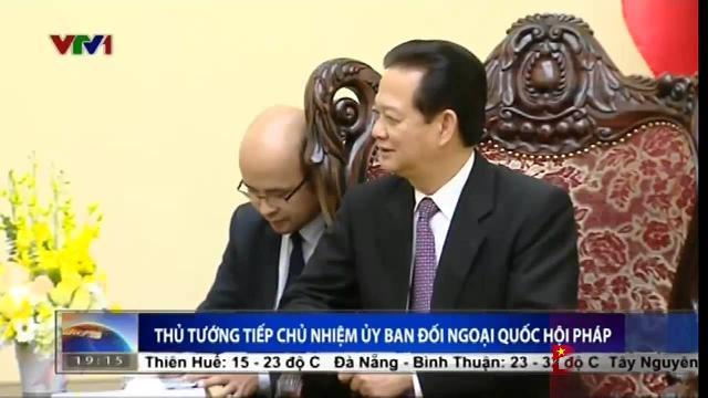 Thủ tướng Nguyễn Tấn Dũng tiếp Chủ nhiệm ủy ban Đối ngoại Quốc hội Pháp