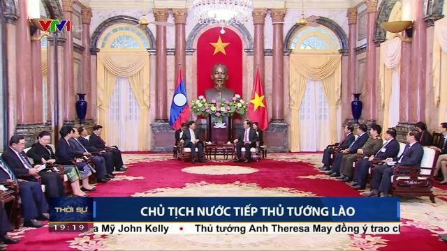 Chủ tịch nước Trần Đại Quang tiếp Thủ tướng Lào