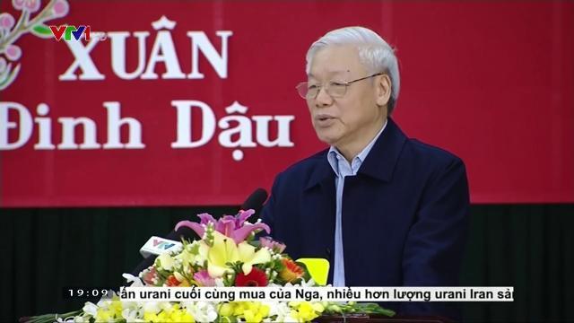 Tổng Bí thư Nguyễn Phú Trọng thăm, làm việc tại Trường Chính trị Trường Chinh
