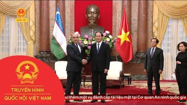 Chủ tịch nước Trần Đại Quang tiếp Phó Thủ tướng Uzbekistan