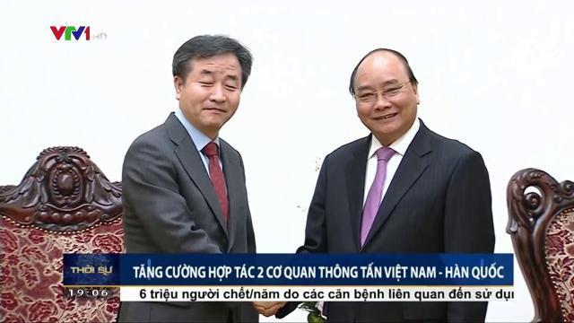 Tăng cường hợp tác 2 cơ quan thông tấn Việt Nam Hàn Quốc