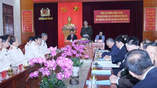 Bộ trưởng Tô Lâm làm việc tại Công an tỉnh Yên Bái