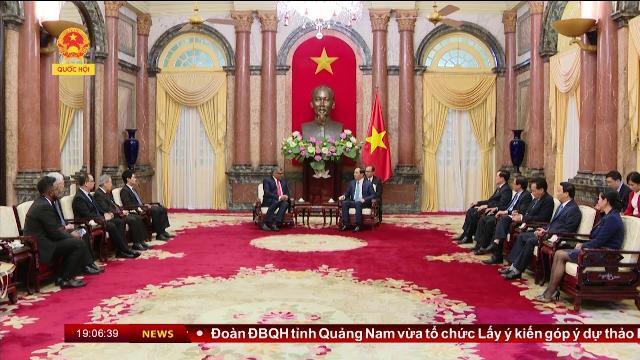 Chủ Tịch nước Trần Đại Quang tiếp Chánh án Tòa án tối cao singapore