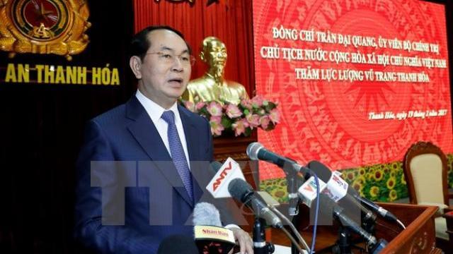 Chủ tịch nước Trần Đại Quang: Bảo đảm an ninh chính trị trong mọi tình huống