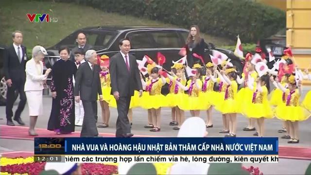 Chủ tịch nước Trần Đại Quang tiếp nhà vua và hoàng hậu Nhật Bản thăm cấp nhà nước Việt Nam