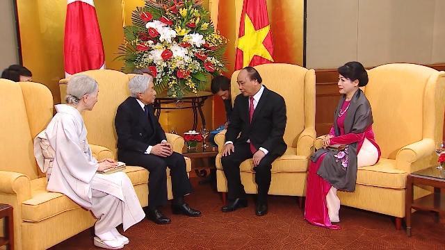 Thủ tướng Nguyễn Xuân Phúc và Phu nhân hội kiến với Nhà vua và Hoàng hậu Nhật Bản