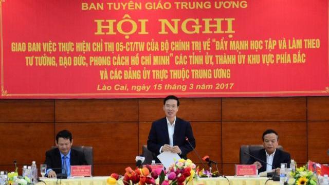 Ông Võ Văn Thưởng tại hội nghị nhân rộng các điển hình làm theo phong cách Hồ Chí Minh