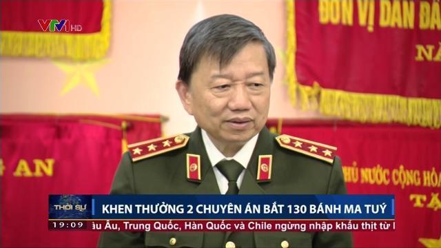 Bộ trưởng Tô lâm khen thưởng 2 chuyên án bắt 130 bánh ma túy