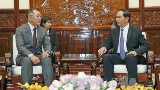 Chủ tịch nước Trần Đại Quang tiếp phó chủ tịch tập đoàn Huyndai