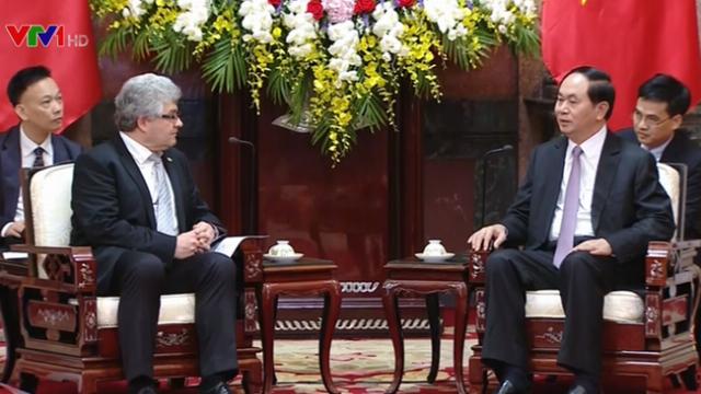 Chủ tịch nước Trần Đại Quang tiếp Chủ tịch thượng viện Thụy Sỹ