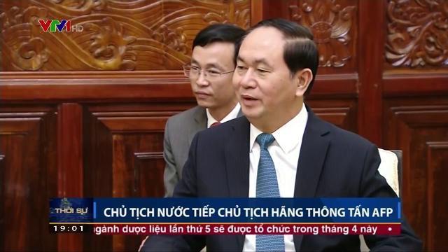 Chủ tịch nước Trần Đại Quang tiếp Chủ tịch hãng thông tấn AFP
