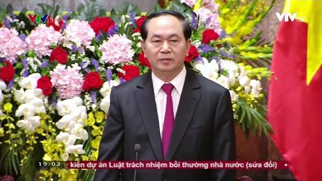Chủ tịch nước Trần Đại Quang tiếp đoàn cựu cán bộ điệp báo an ninh Sài Gòn Gia Định