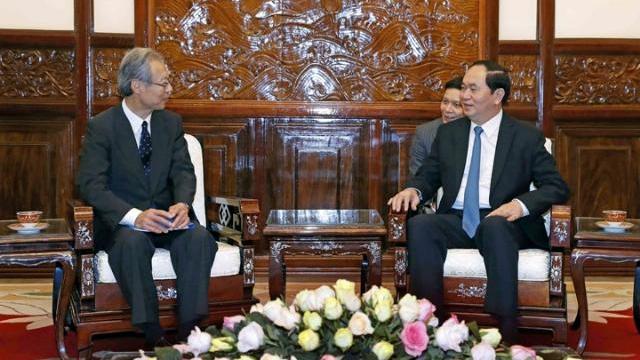 Chủ tịch nước Trần Đại Quang tiếp Chủ tịch hãng thông tấn Kyodo News