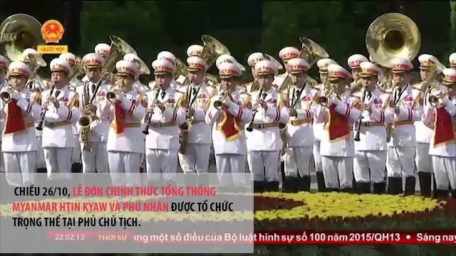 Chủ tịch nước Trần Đại Quang đón tiếp gần 30 nguyên thủ các nước đến thăm Việt Nam trong năm 2016