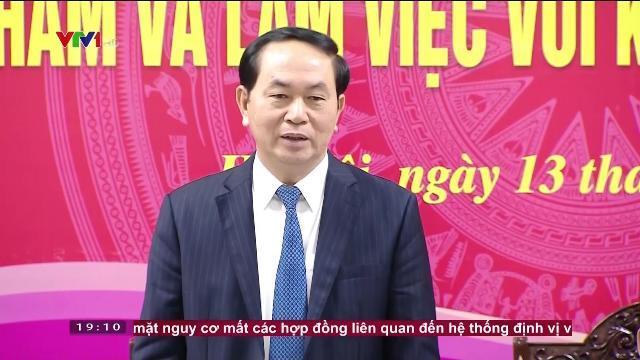 Chủ tịch nước Trần Đại Quang làm việc với kiểm toán nhà nước