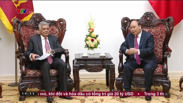 Thủ tướng Nguyễn Xuân Phúc tiếp đón Thủ tướng Sri Lanka thăm chính thức Việt Nam
