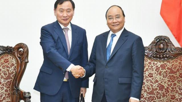 Thủ tướng Nguyễn Xuân Phúc tiếp Tổng giám độc tập đoàn ô tô Huyndai