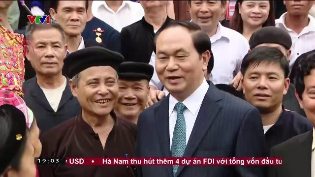 Chủ tịch nước Trần Đại Quang Gắn phát triển kinh tế Xã hội với bảo tồn văn hóa dân tộc