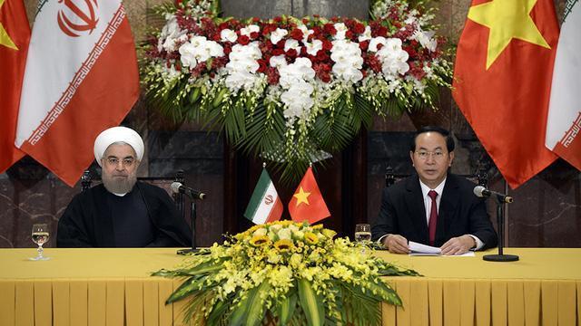 Chủ tịch nước Trần Đại Quang hội đàm tăng cường hợp tác thương mại Việt Nam Iran