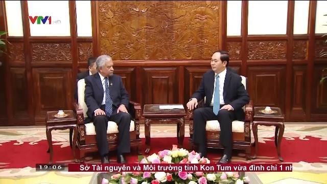 Chủ tịch nước Trần Đại Quang họp bàn ưu tiên hỗ trợ Việt Nam ứng phó với biến đổi khí hậu